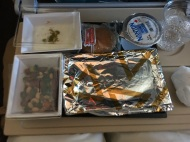 Low Key Suspicious of In-Flight Food, but I was hungry. It tasted good!