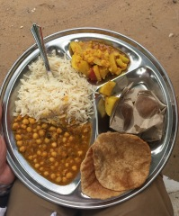 Meal at an SMSF Community Center in Mewat on Foundation Day
