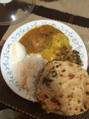 A special meal of chicken curry in the SMSF Guesthouse.