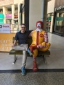 Hangin' out w/ my creepy pal, Ronald.
