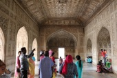 Inside one of many spaces in Agra Fort.